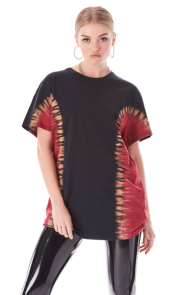 SIDE TIE DIYE OVERSIZED T-SHIRT