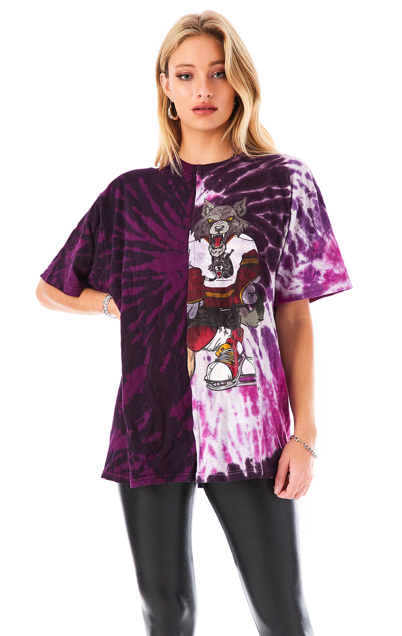 VINTAGE SPLICED TIE DYE T-SHIRT