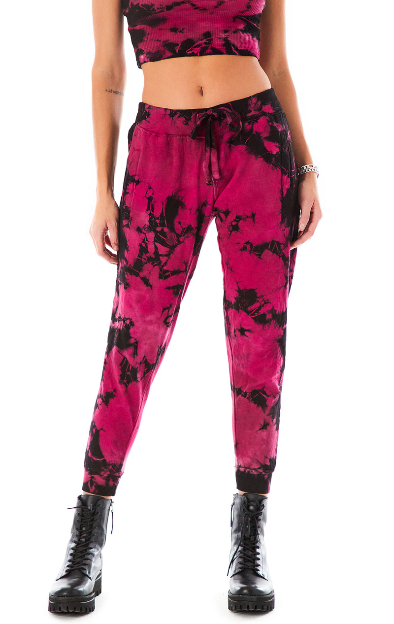 CRYSTAL TIE DYE SWEATPANTS