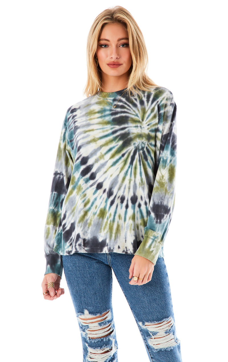 HURRICANE TIE DYE LONG SLEEVE T-SHIRT