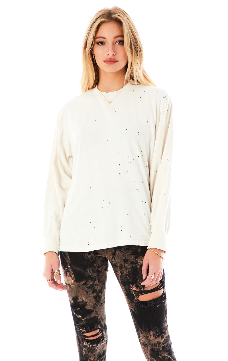 STONEWASHED LONG SLEEVE T-SHIRT