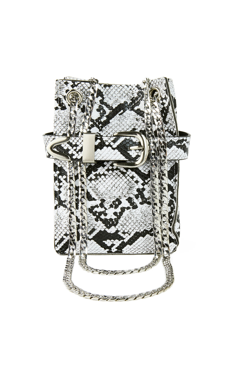 SNAKE PURSE WITH CHAIN STRAP