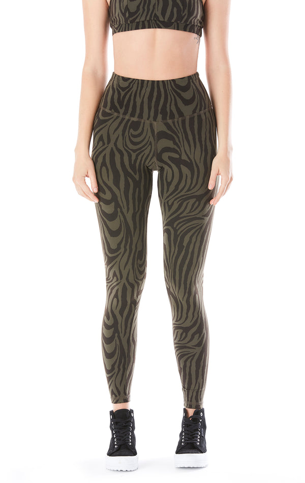 TEAGAN LONG ZEBRA PRINT LEGGINGS