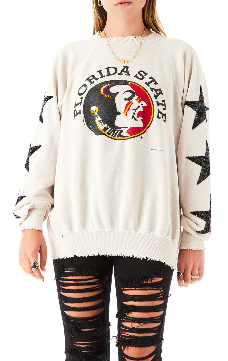 VINTAGE BLACK STAR PATCH SWEATSHIRT