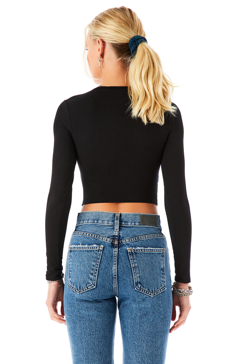 CUT OUT LONG SLEEVE T-SHIRT