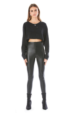 CROC FAUX LEATHER LEGGINGS