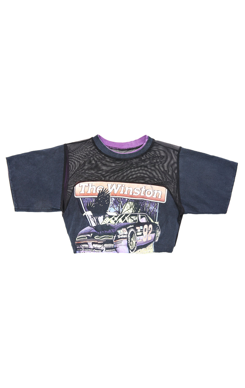 VINTAGE CROP POWER MESH T-SHIRT