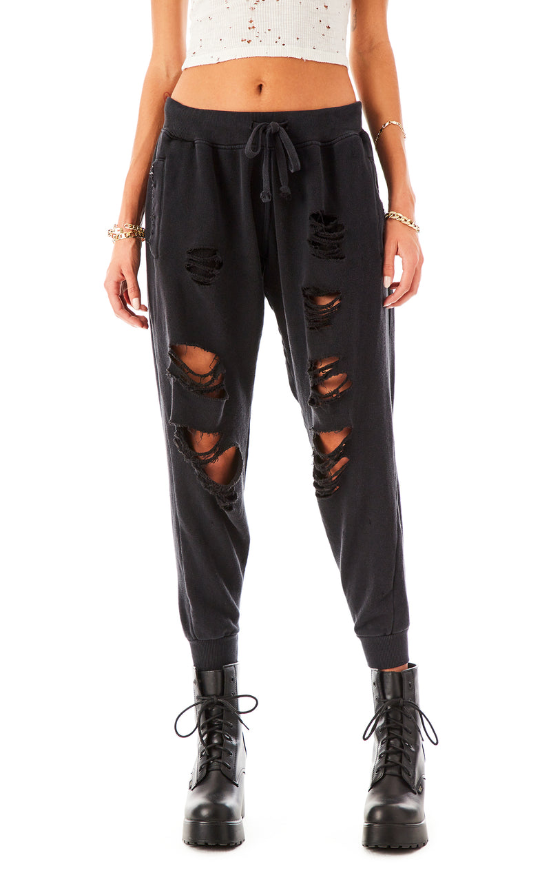 RIPPED SWEATPANTS