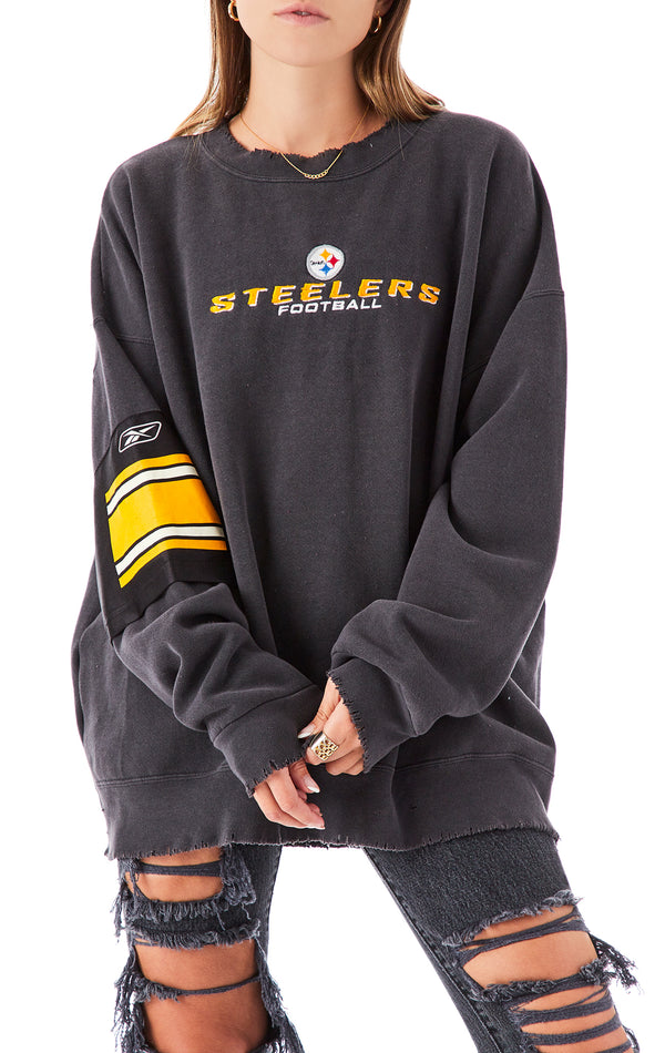 VINTAGE SPLICED JERSEY SLEEVE SWEATSHIRT
