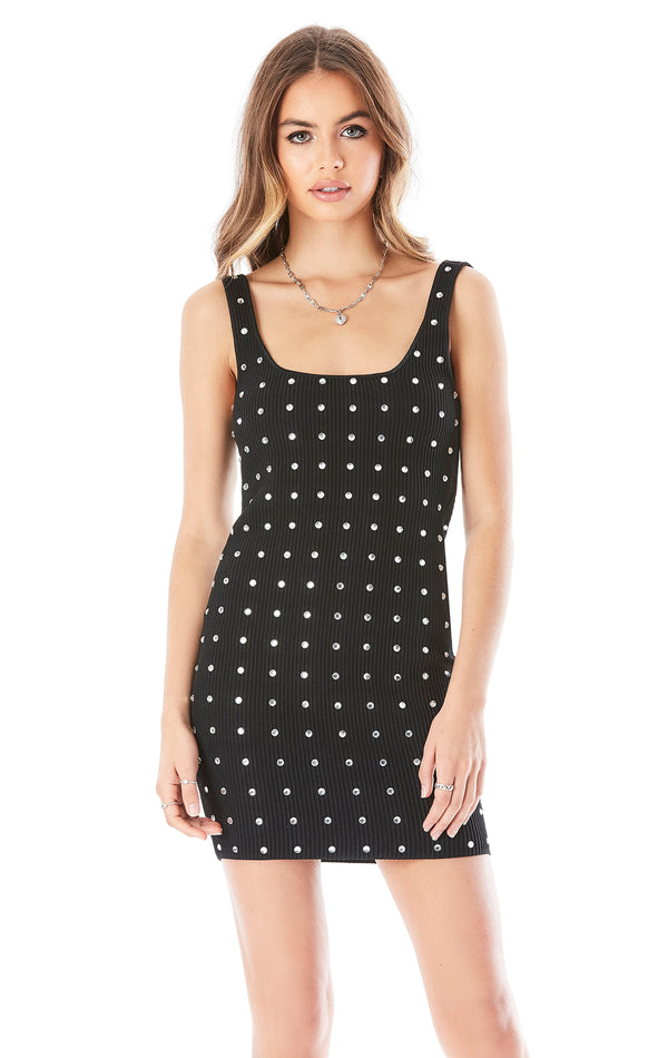 ALLOVER RHINESTONE DRESS