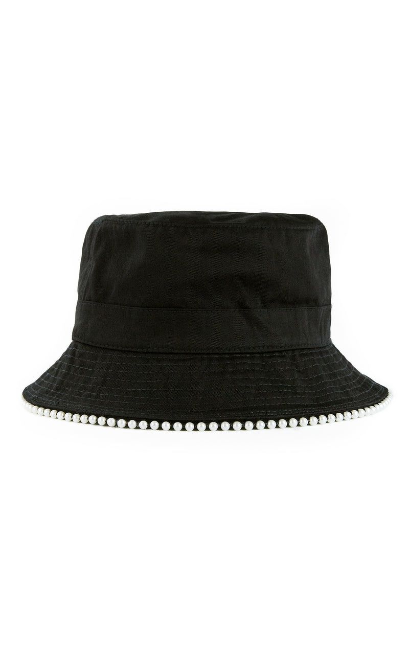 PEARL TRIM BUCKET HAT