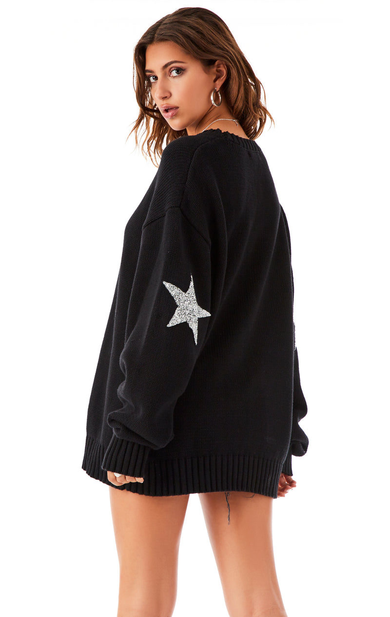 STAR PATCH SWEATER