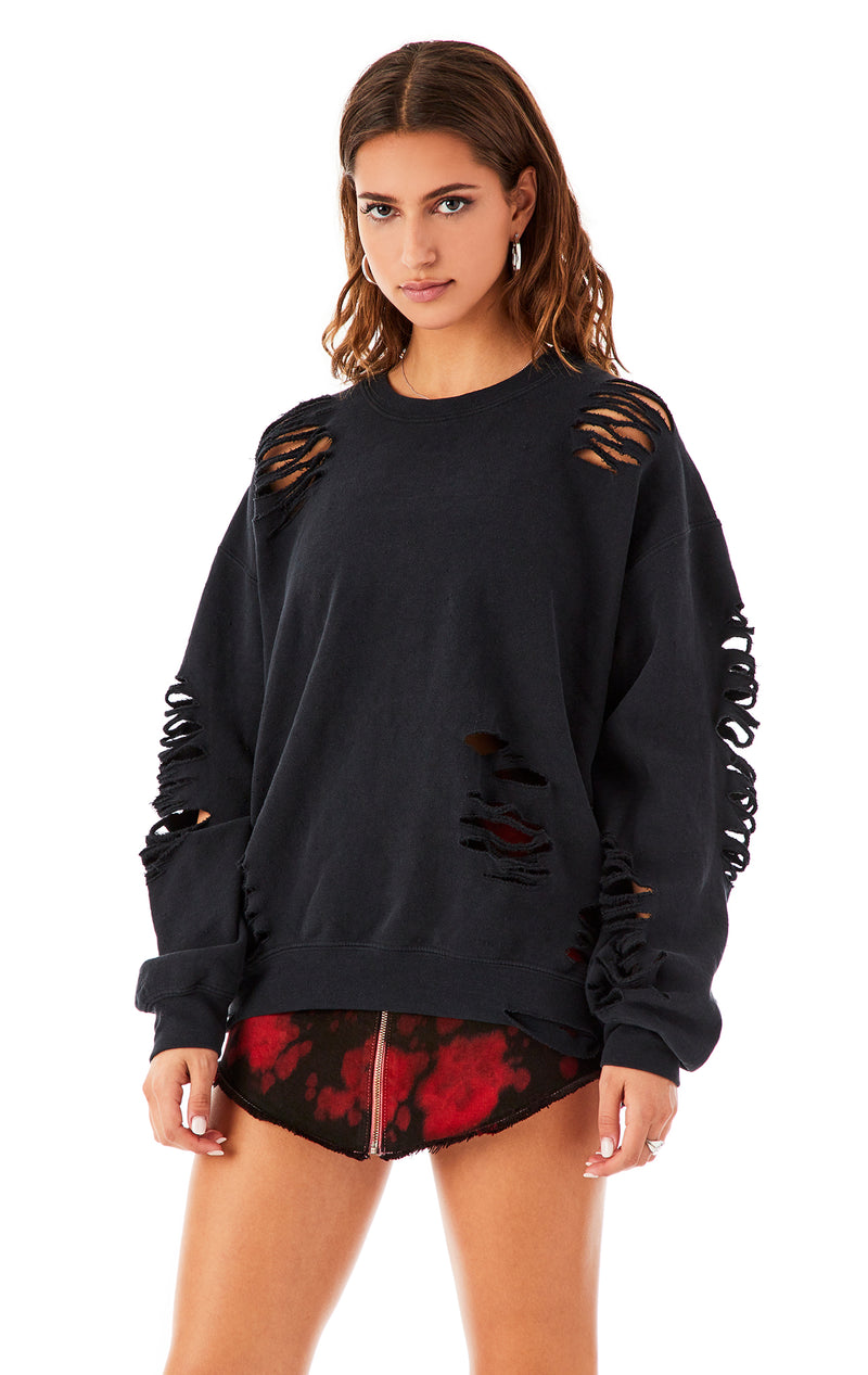 RIPPED SWEATSHIRT
