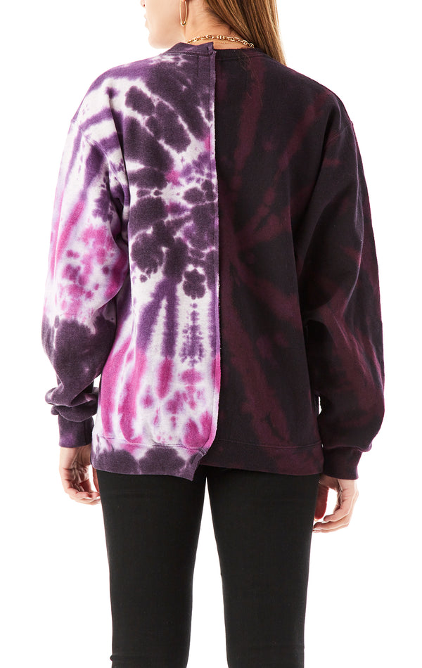 VINTAGE SPLICED TIE DYE SWEATSHIRT