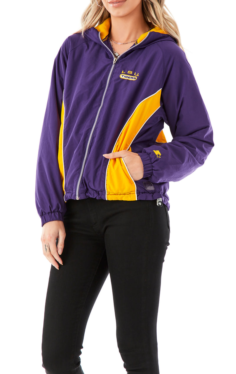 VINTAGE COLLEGE ZIP UP WINDBREAKER JACKET