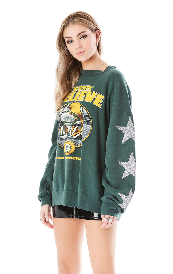 VINTAGE STAR PATCH SPORTS SWEATSHIRT