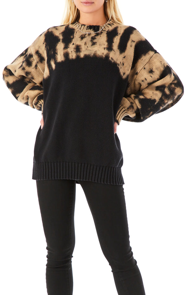 OVERSIZED SPARKLER BLEACH SWEATER