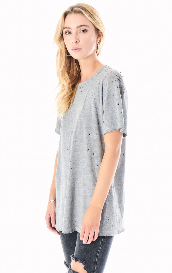 STONE WASHED BOYFRIEND T-SHIRT