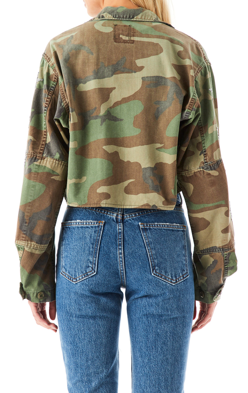 VINTAGE MINI STAR PATCH CAMO JACKET
