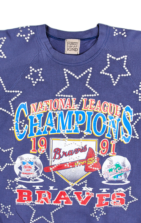 VINTAGE RHINESTONE STAR SPORTS SWEATSHIRT