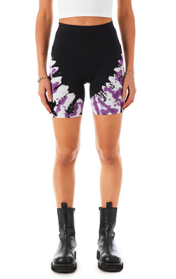 DIAGONAL TIE DYE BIKE SHORTS