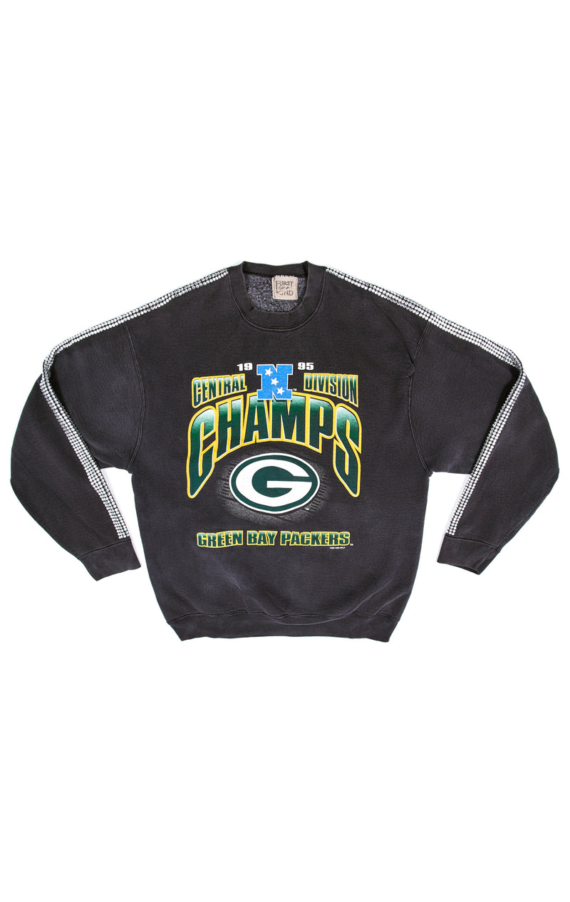 VINTAGE RHINESTONE STRIP SPORTS SWEATSHIRT