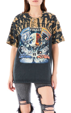 VINTAGE SPARKLER SHOULDER BLEACH T-SHIRT