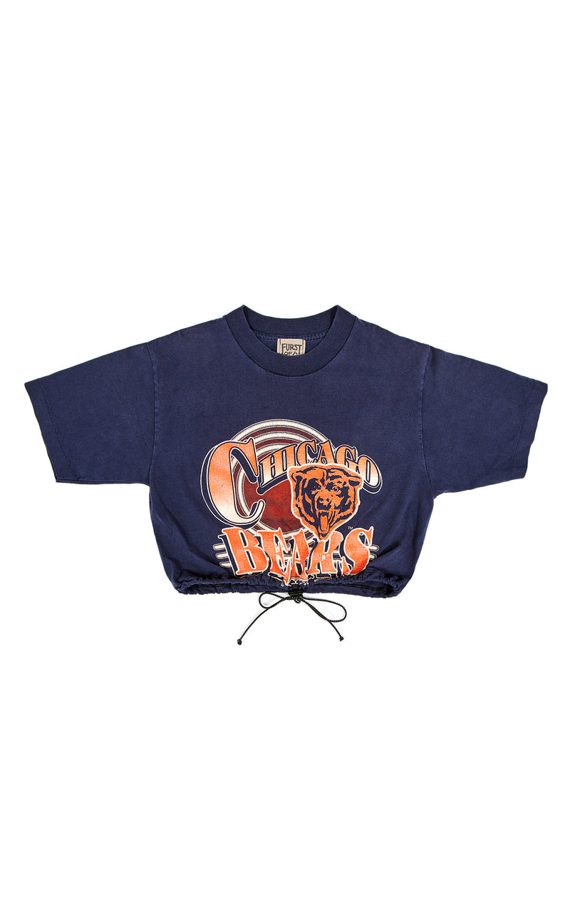 VINTAGE CINCHED CROP SPORTS T-SHIRT