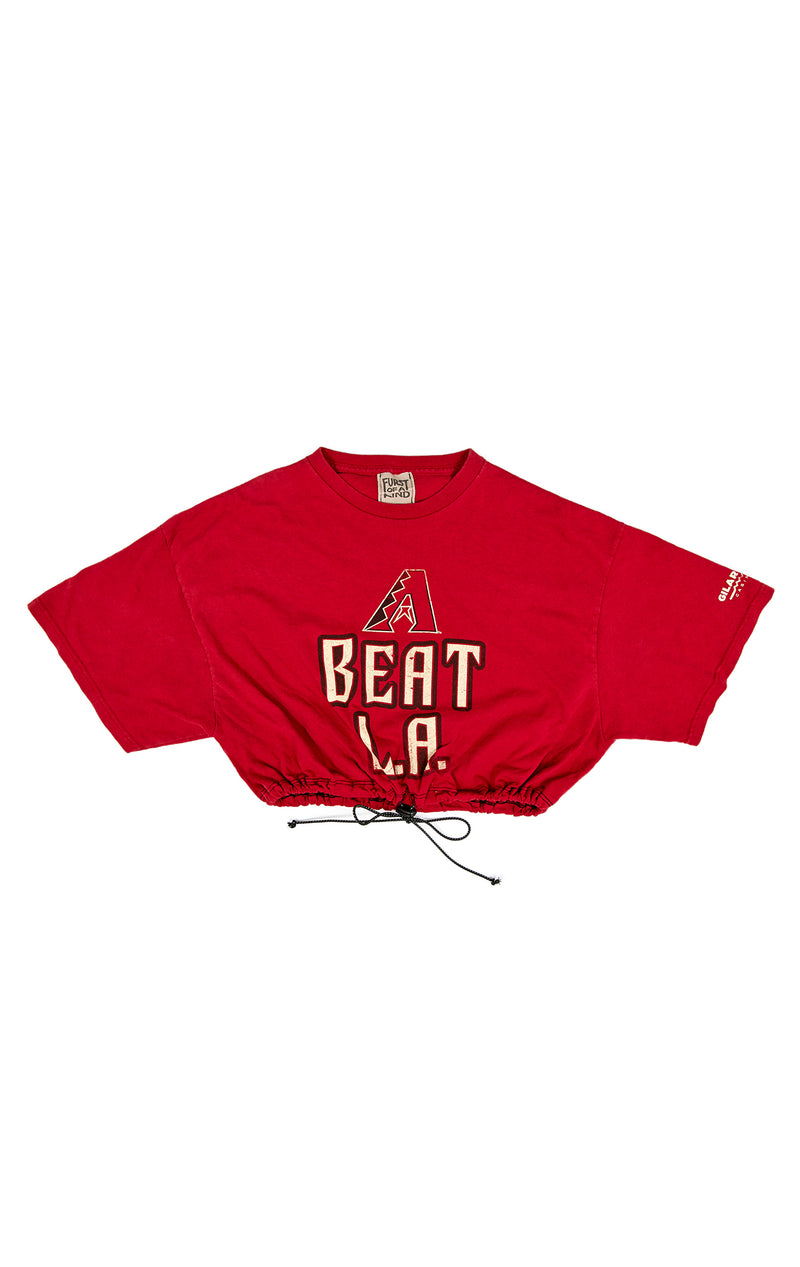 VINTAGE CINCHED SPORTS CROP T-SHIRT