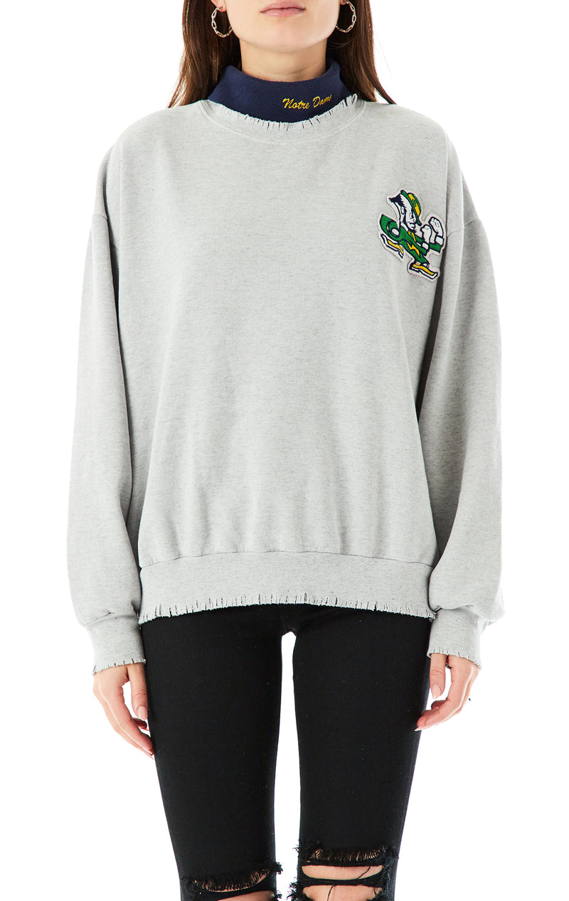 VINTAGE COLLEGE TURTLENECK SWEATSHIRT