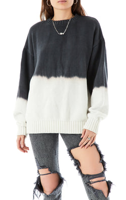 OVERSIZED DIP DYE SWEATER