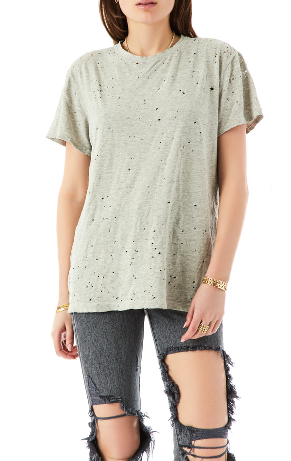 RECYCLED COTTON STONEWASHED T-SHIRT