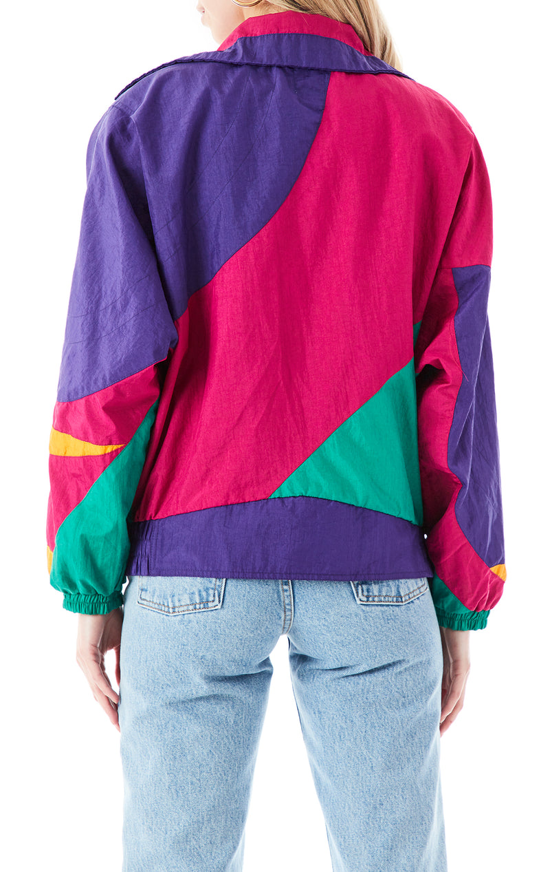 VINTAGE MIXED MEDIA WINDBREAKER