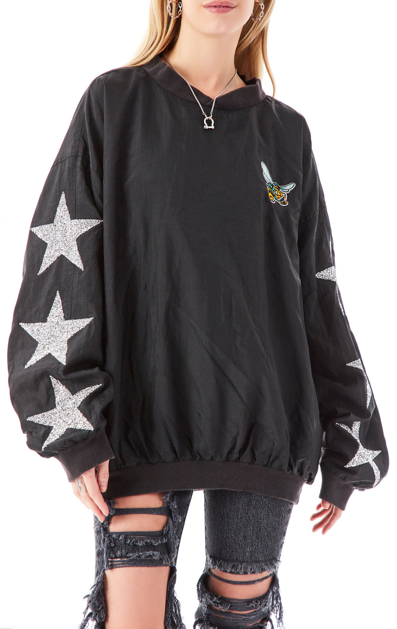 VINTAGE STAR PATCH PULLOVER WINDBREAKER