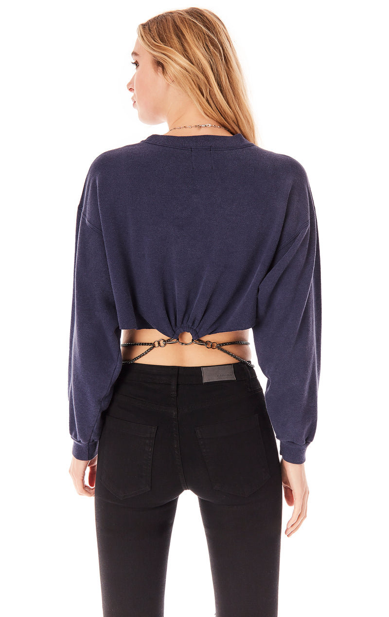 VINTAGE CHAIN WAIST SPORTS SWEATSHIRT