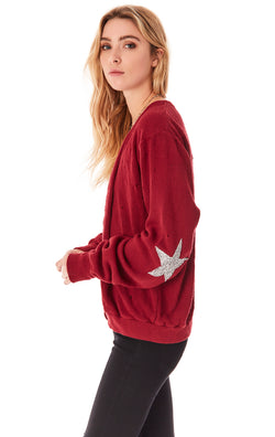 VINTAGE STAR PATCH CARDIGAN