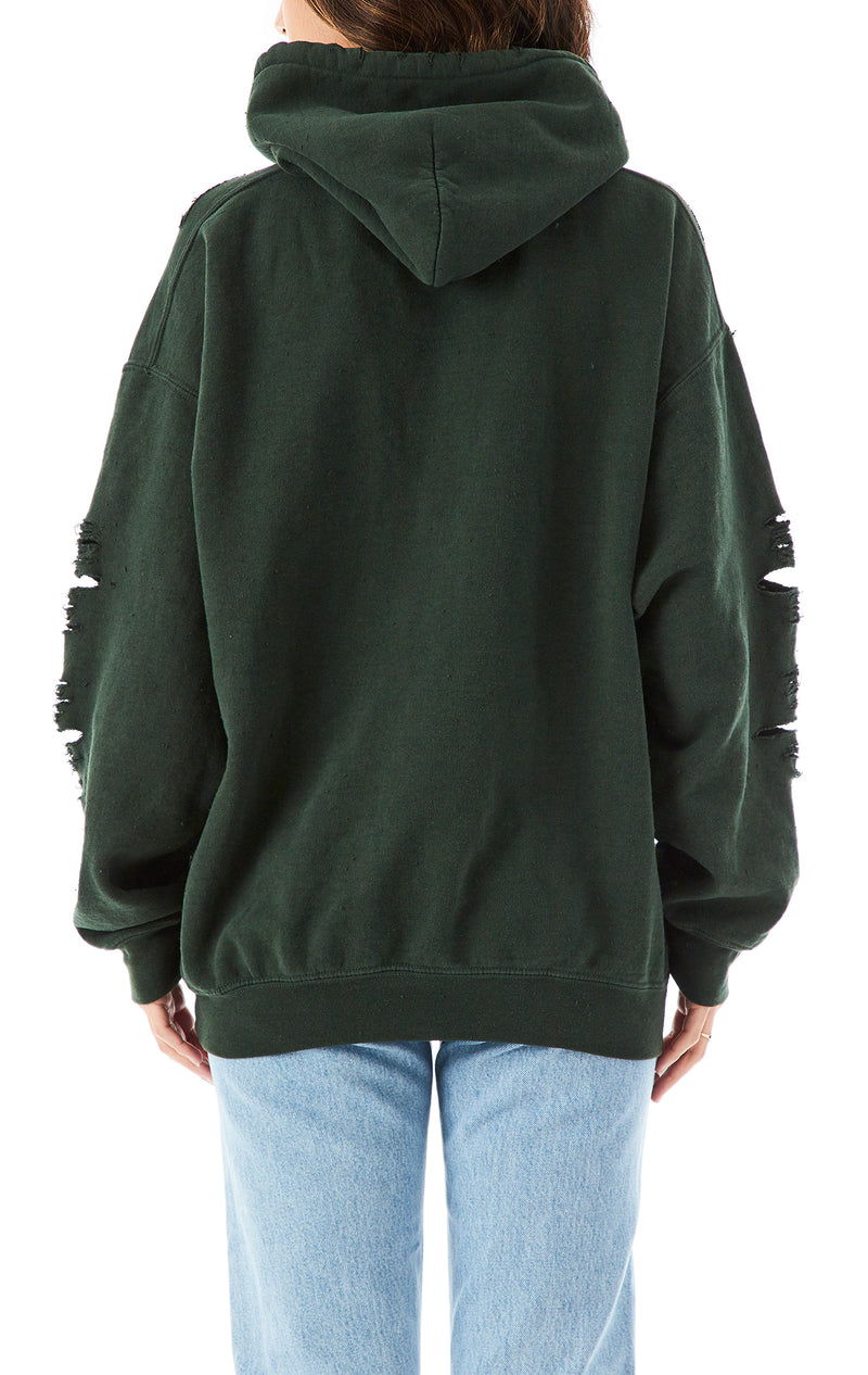 OVERSIZED RIPPED HOODIE