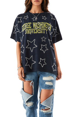 VINTAGE RHINESTONE STAR OUTLINE T-SHIRT