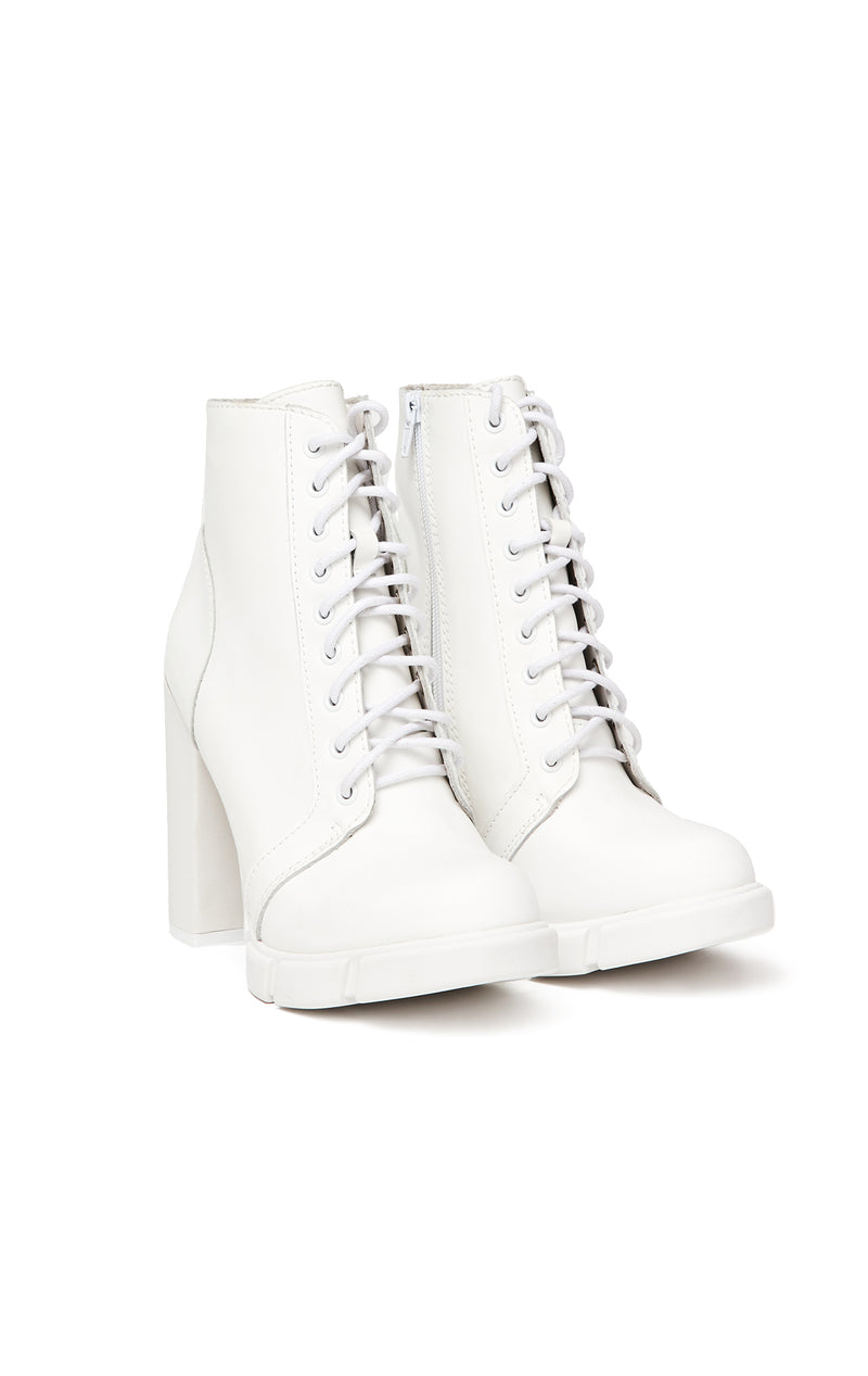JEFFREY CAMPBELL SOLAR LACE UP BOOTIE ANGLE