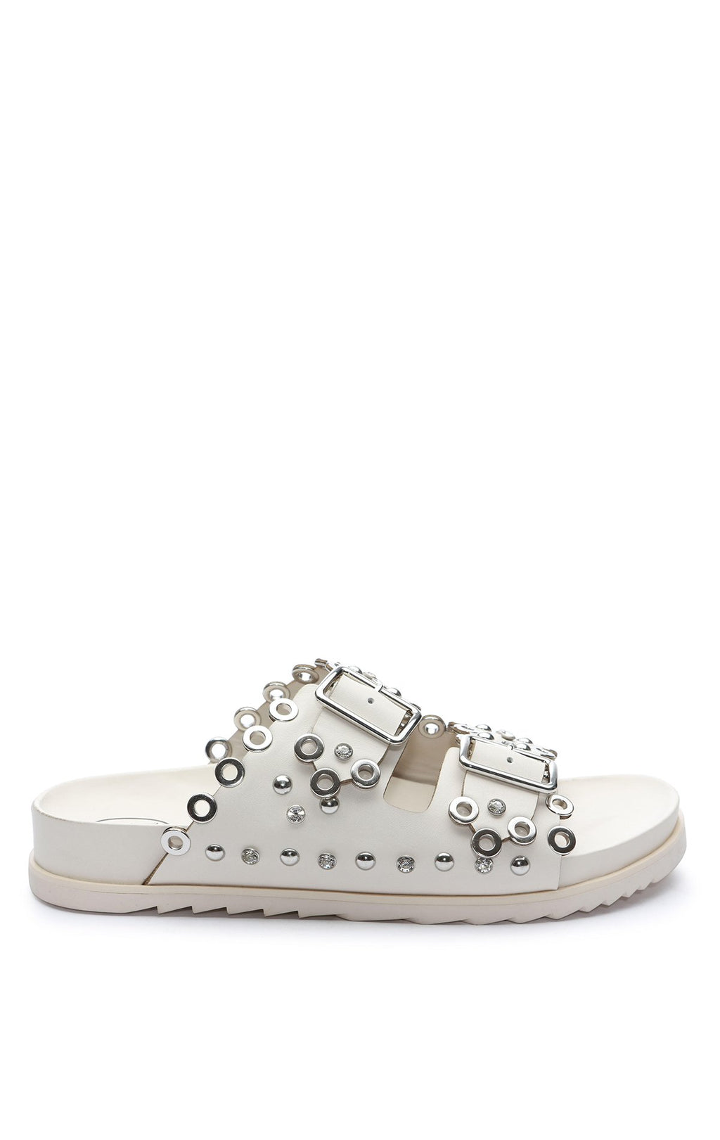 ASH UNIVERSE EMBELLISHED LEATHER SANDALS - SHOES