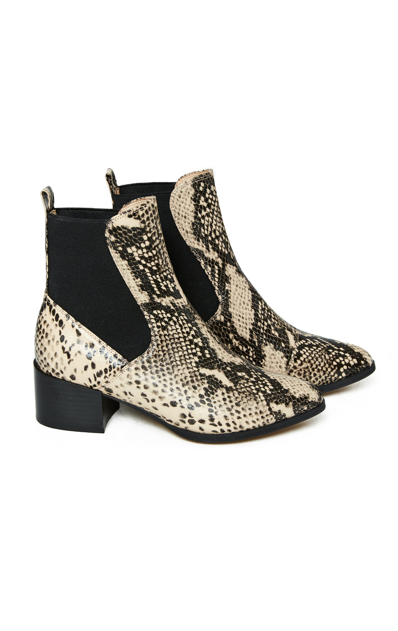 SILENT D NUDE PYTHON WESTERN BOOTIES