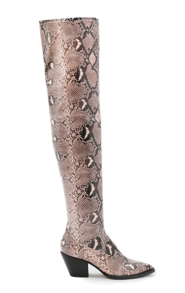 SURI OVER THE KNEE SNAKE BOOT