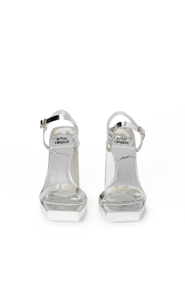 DANCERIA-2 SQUARE TOE METALLIC HEEL SANDAL