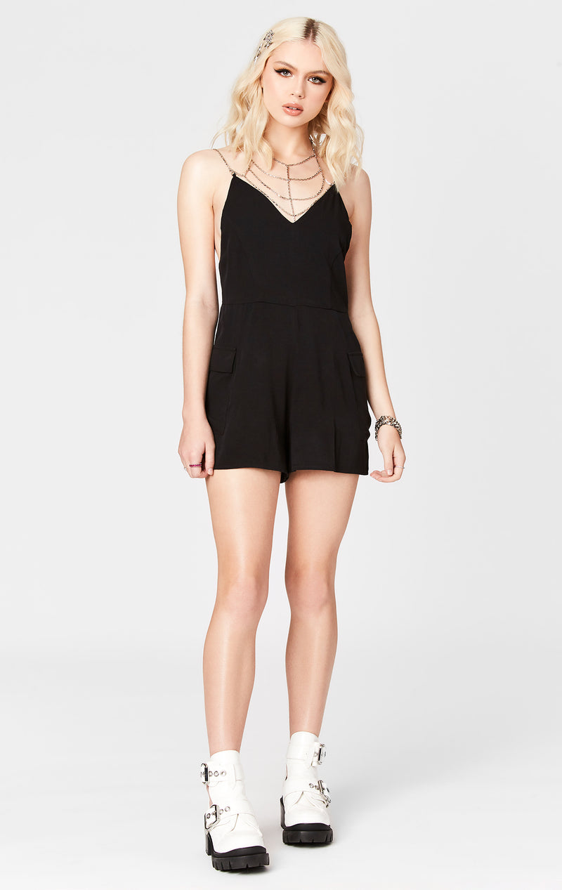 CHAIN NECKLACE PLAYSUIT