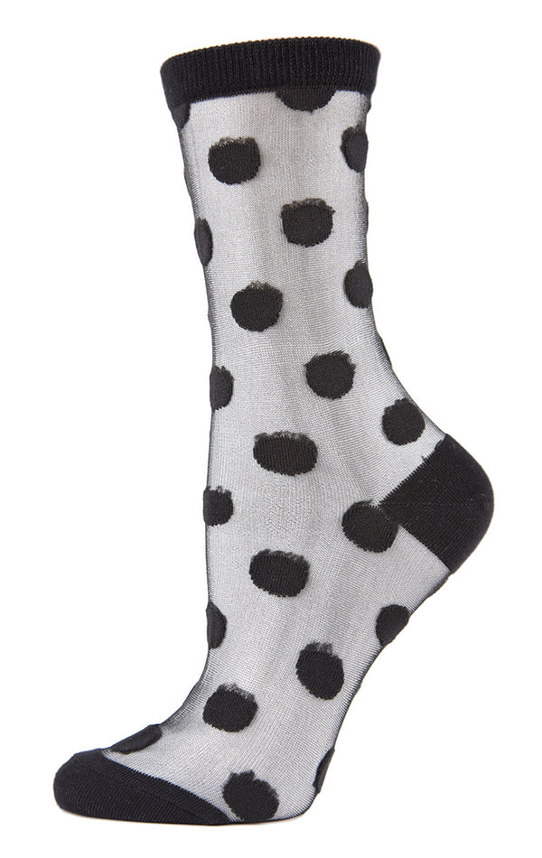 POLKA DOT SHEER CREW SOCK