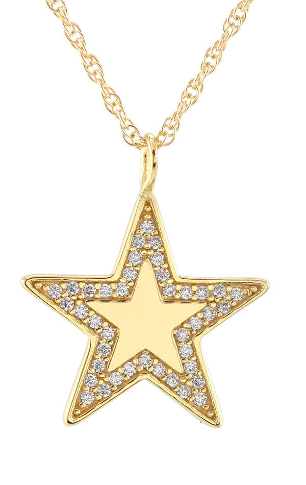 PAVE STAR CHARM NECKLACE