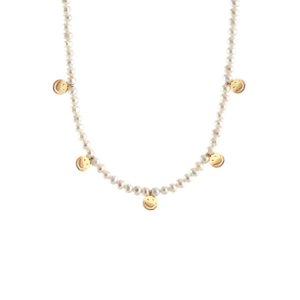 PETITE PEARL SMILEY NECKLACE