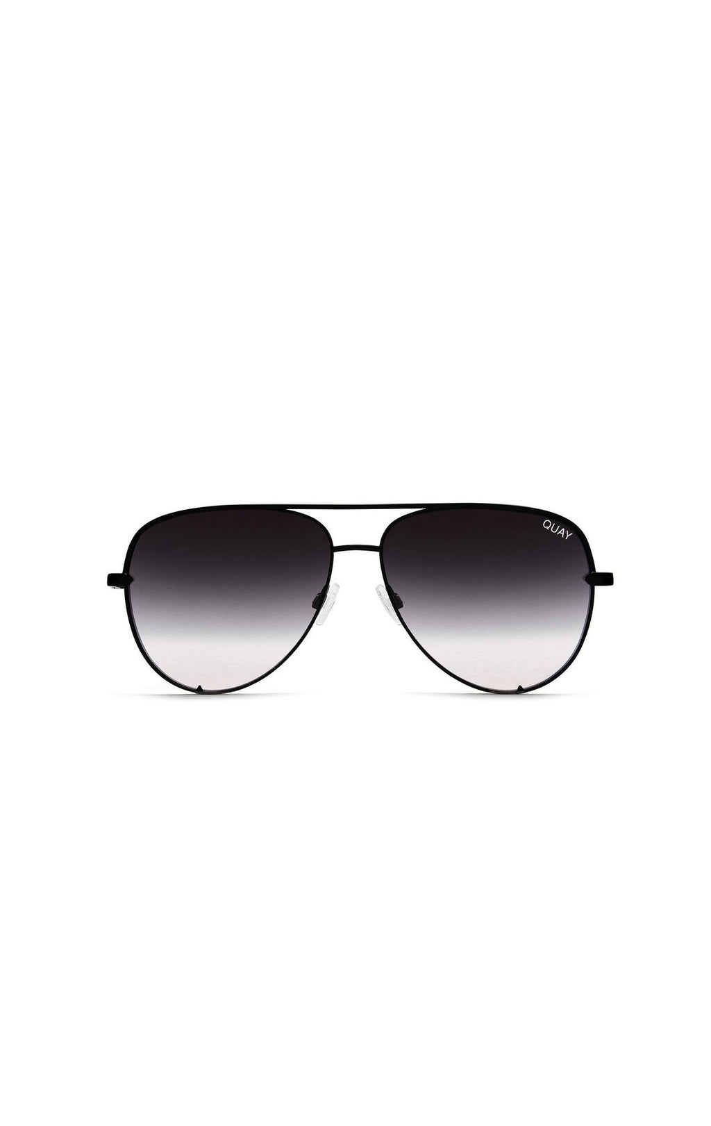 QUAY HIGH KEY OVERSIZED AVIATOR SUNGLASSES FRONT