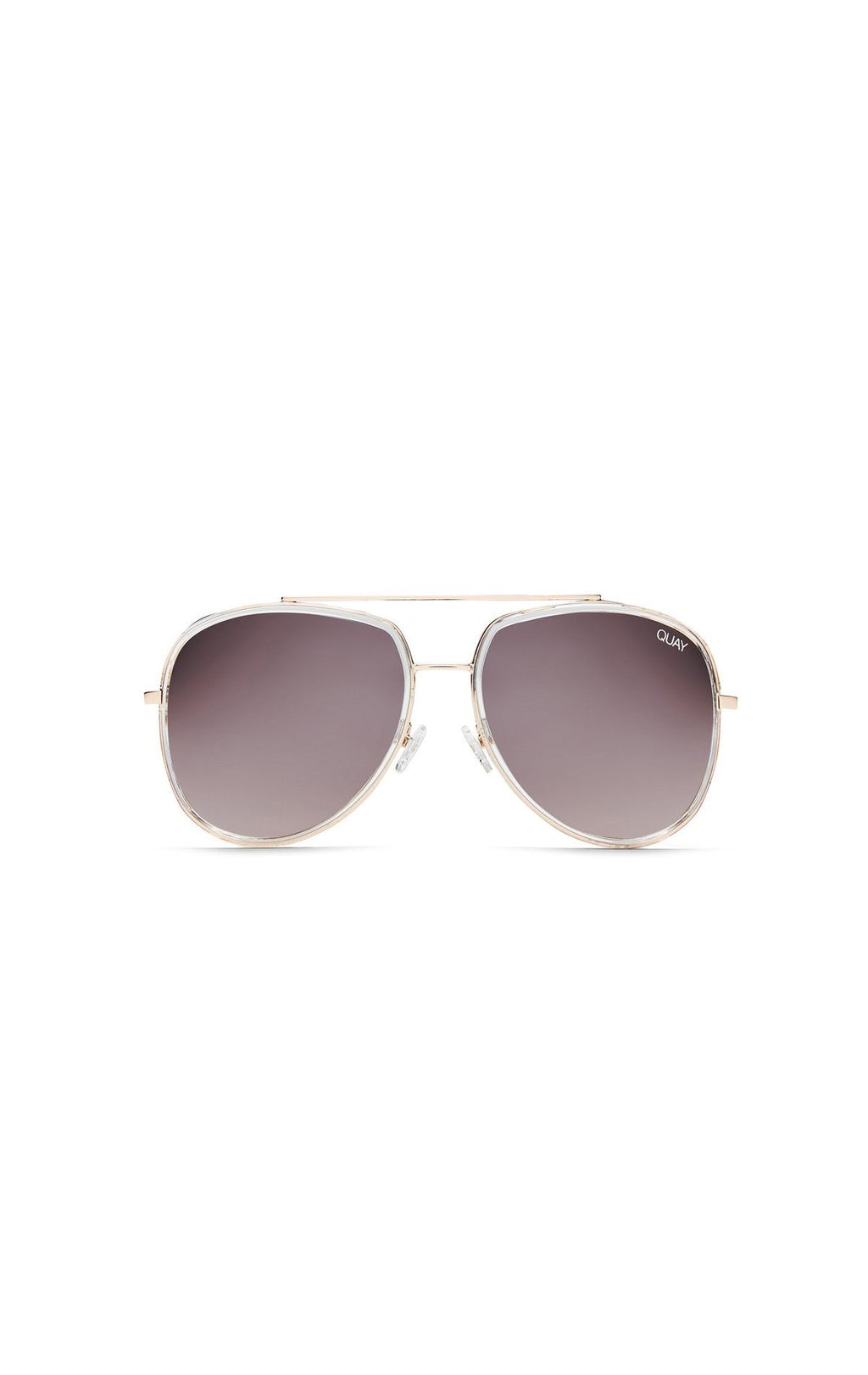 QUAY NEEDING FAME OVERSIZED AVIATOR SUNGLASSES FRONT