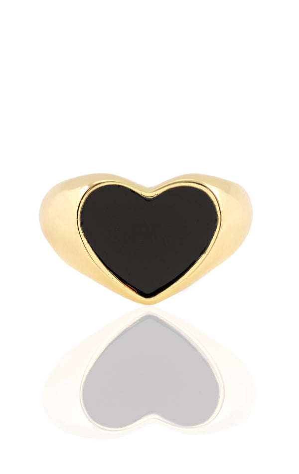 HEART ENAMEL RING